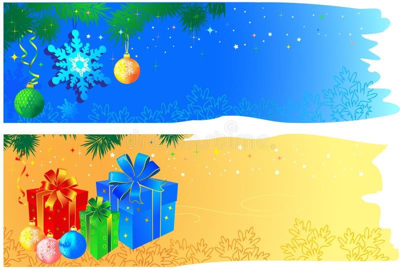 Weihnachtsfahnen mit Platz lizenzfreie abbildung