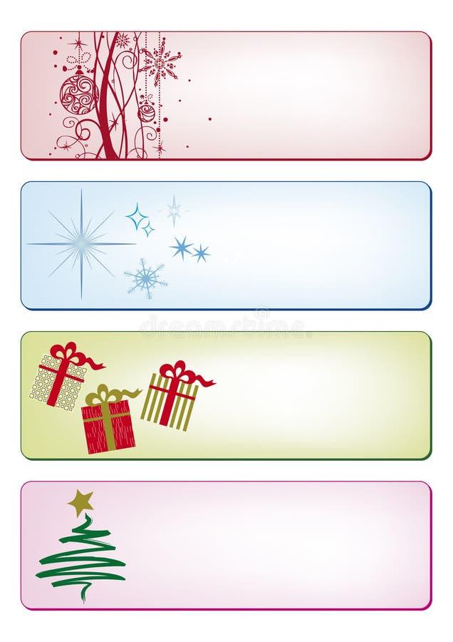 Weihnachtsfahnen und -karten stock abbildung