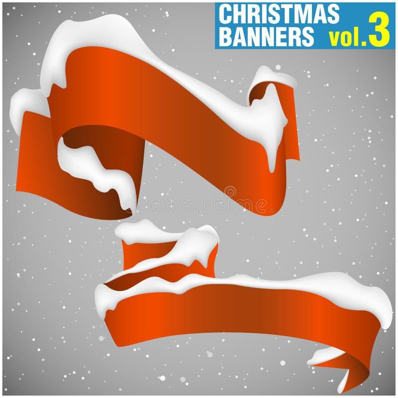 Weihnachtsfahnen vol.3 lizenzfreie abbildung