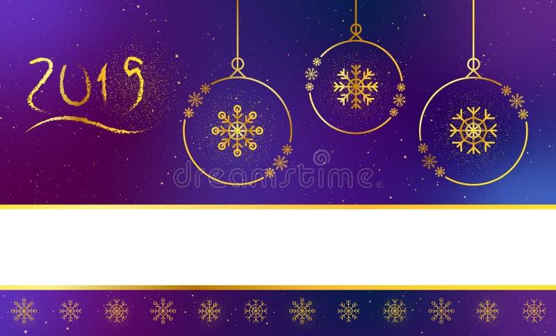 Weihnachtsfahnentitel, Seitenende für Website vektor abbildung