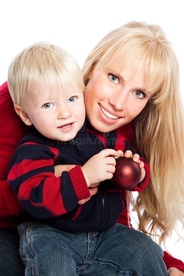 Weihnachtsfamilie lizenzfreie stockfotografie