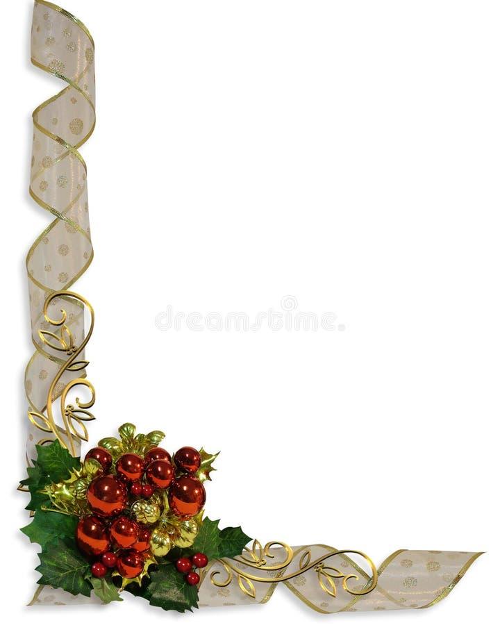 Weihnachtsfarbband-Rand-Feld lizenzfreie abbildung
