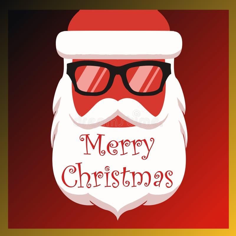 Weihnachtsfarben Funky Beard Santa Vector Images 2019 Weihnachten lizenzfreie abbildung
