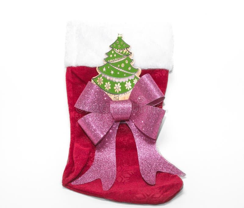 Weihnachtsfeiertag Dekorationen, Verzierungen und simbols auf Weiß stockfotografie