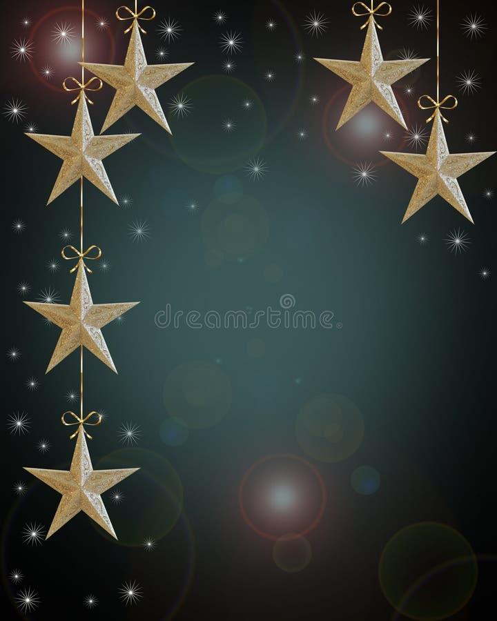 Weihnachtsfeiertag Hintergrund-Sterne vektor abbildung