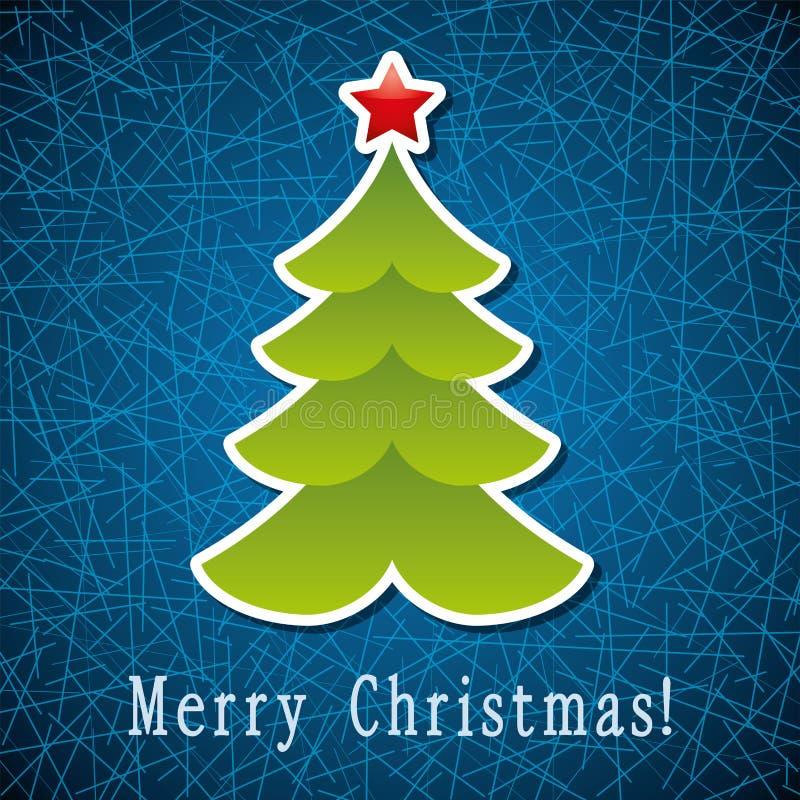 Weihnachtsfeiertags-Baumkarte stock abbildung