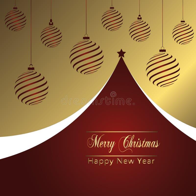 Weihnachtsfeiertags-Gruß-Karten-Design in der luxe Art - Sammlung vektor abbildung