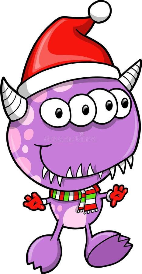 Weihnachtsfeiertags-Monster-Ausländer vektor abbildung