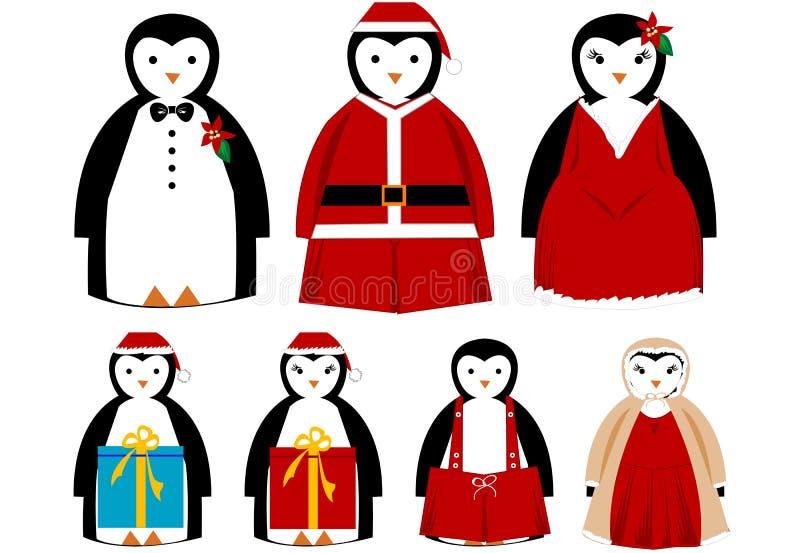 Weihnachtsfeiertags-Pinguine [VEKTOR] vektor abbildung