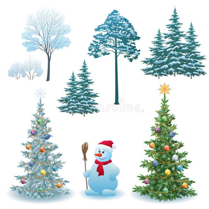 Weihnachtsfeiertags-Satz lizenzfreie abbildung
