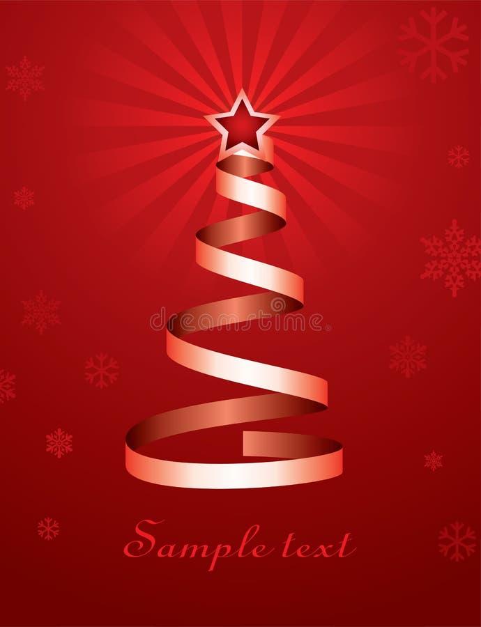 Weihnachtsfeiertagsbaum lizenzfreie abbildung