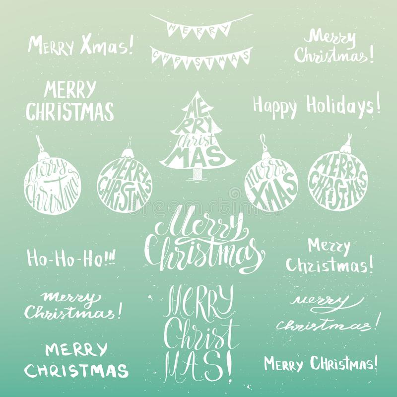 Weihnachtsfeiertagsplakat lizenzfreie abbildung