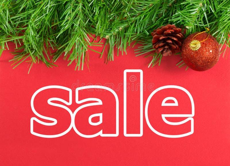 Weihnachtsfeiertagsverkauf lizenzfreies stockbild