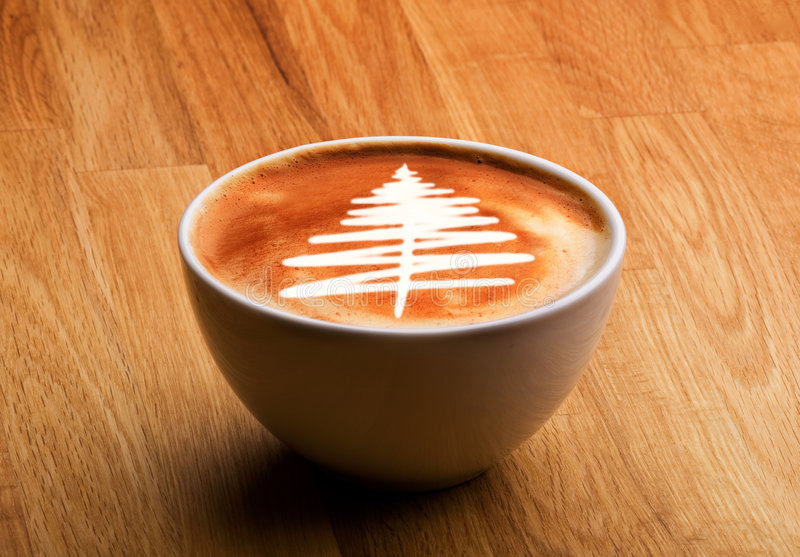 Weihnachtsfeinschmecker-Kaffee lizenzfreie stockbilder