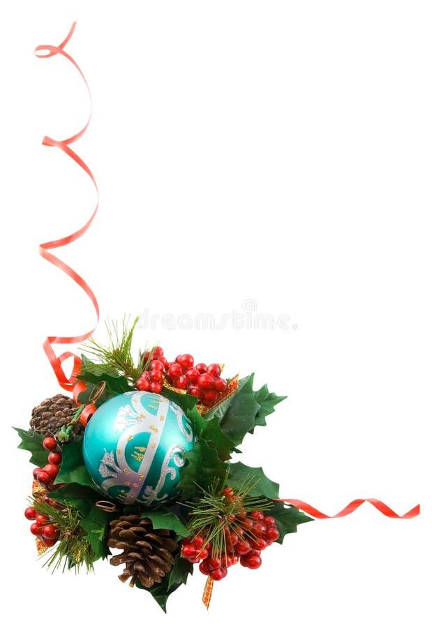 Weihnachtsfeld, getrennt stockbild