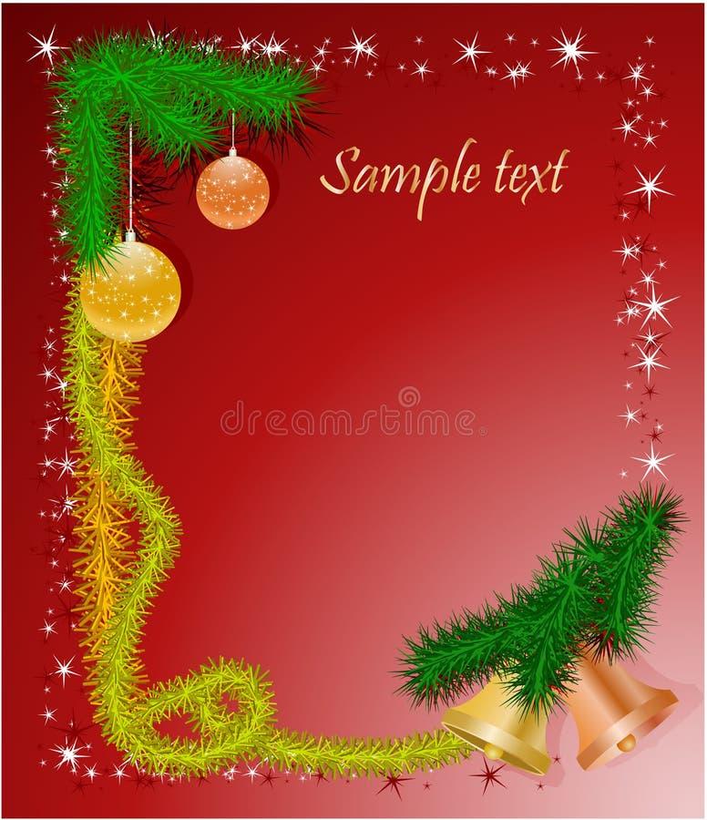 Weihnachtsfeld mit Glocken lizenzfreie abbildung