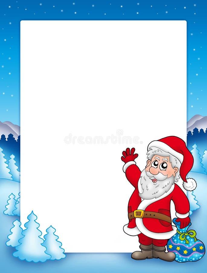 Weihnachtsfeld mit Weihnachtsmann 2 vektor abbildung