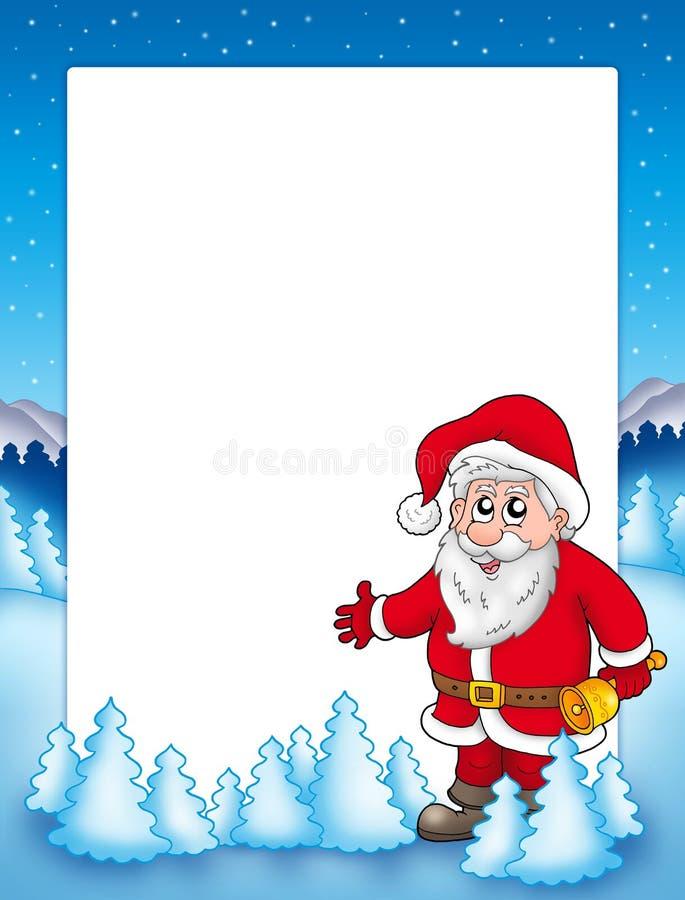 Weihnachtsfeld mit Weihnachtsmann 3 stock abbildung