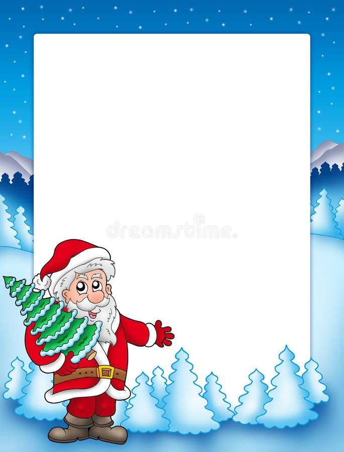 Weihnachtsfeld mit Weihnachtsmann 4 stock abbildung