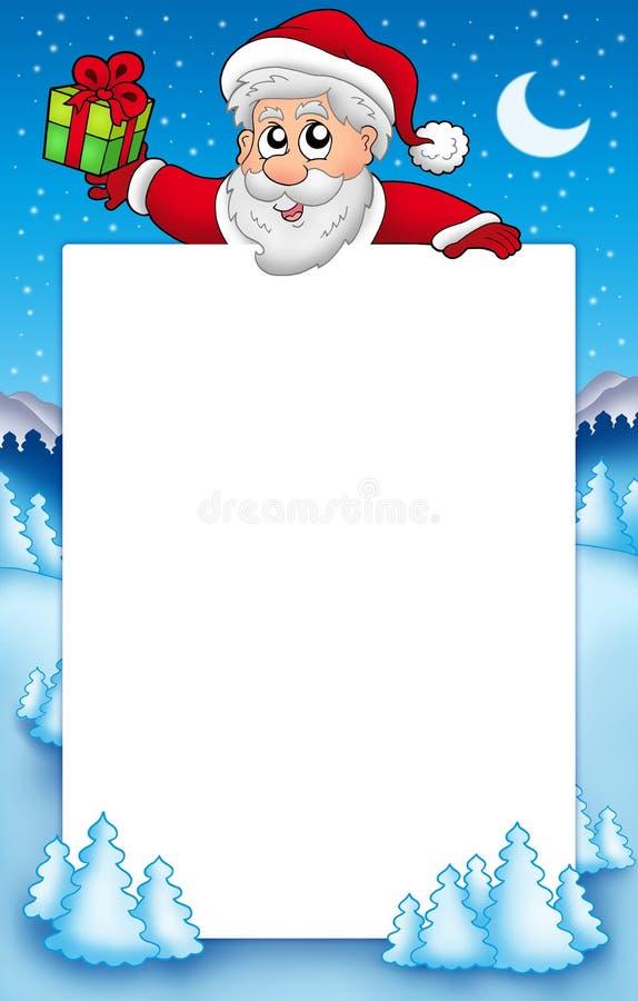 Weihnachtsfeld mit Weihnachtsmann 5 stock abbildung
