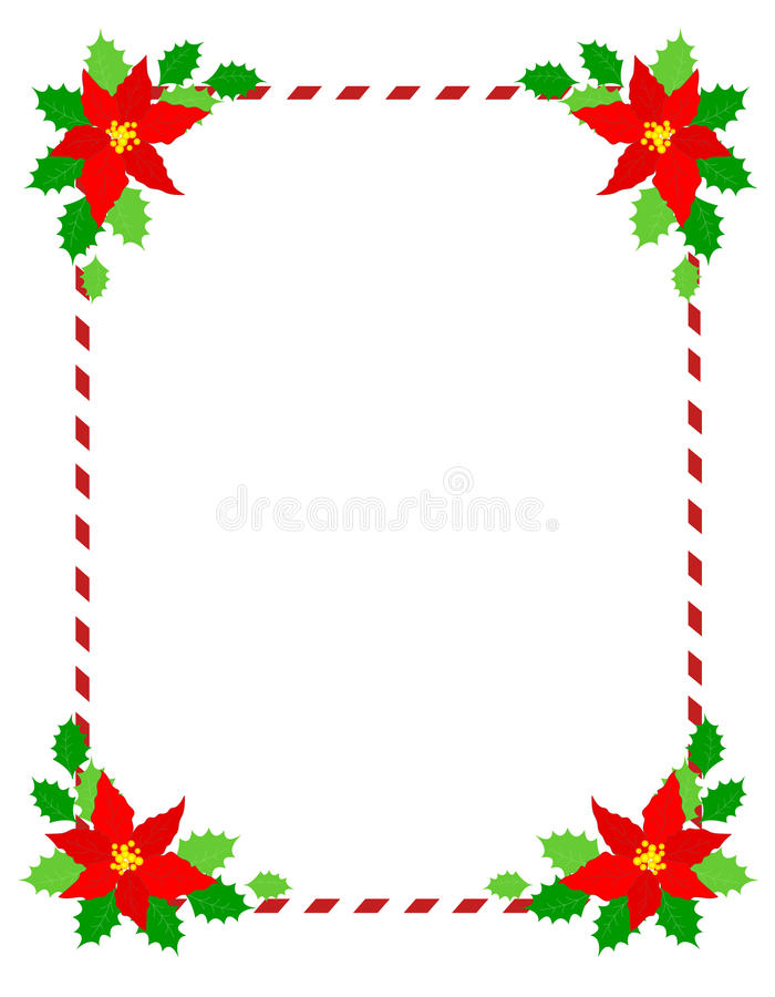 Weihnachtsfeldpoinsettia lizenzfreie abbildung