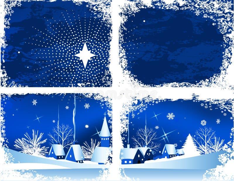 Weihnachtsfenster. lizenzfreie abbildung
