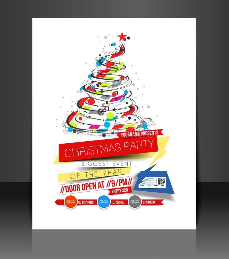 Weihnachtsfest-Flieger lizenzfreie abbildung