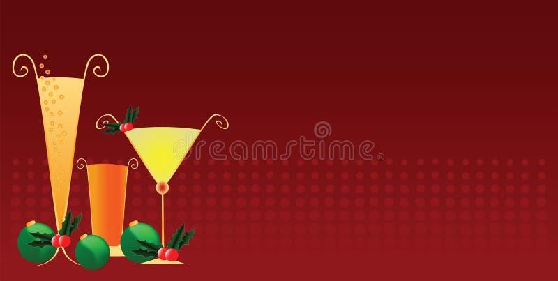 Weihnachtsfest-Getränke lizenzfreie abbildung