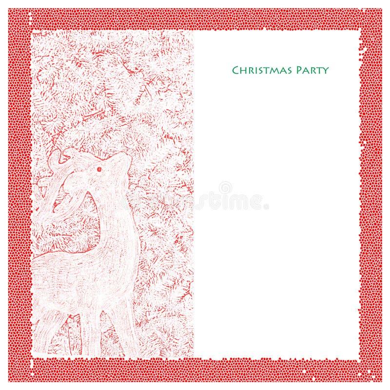 Weihnachtsfest-Schablone lizenzfreie abbildung