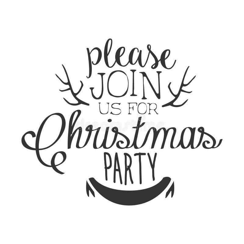 Weihnachtsfest-Schwarzweiss-Einladungs-Karten-Design-Schablone Mit ...