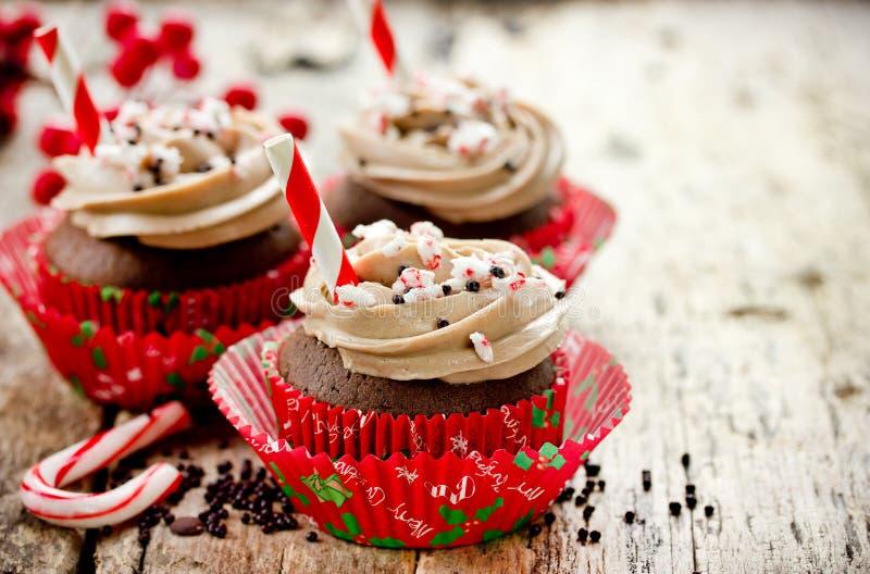 Weihnachtsfestabendessenmenü-Nachtischidee - köstliche Schokolade p stockbild