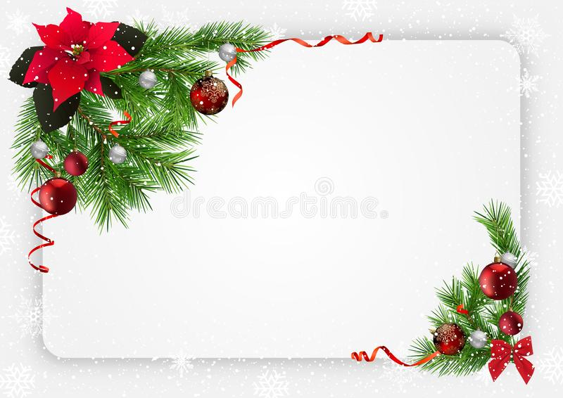 Weihnachtsfestlicher Hintergrund mit Dekorationen stock abbildung