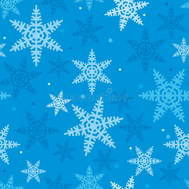 Weihnachtsfestliches Muster von Snowflakes_03 stockbilder