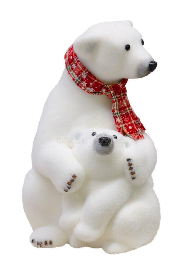 Weihnachtsfigürcheneisbär und -Teddybär stockfotografie