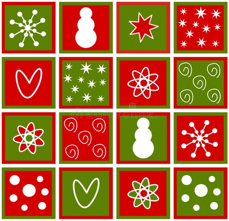 Weihnachtsfliesen vektor abbildung