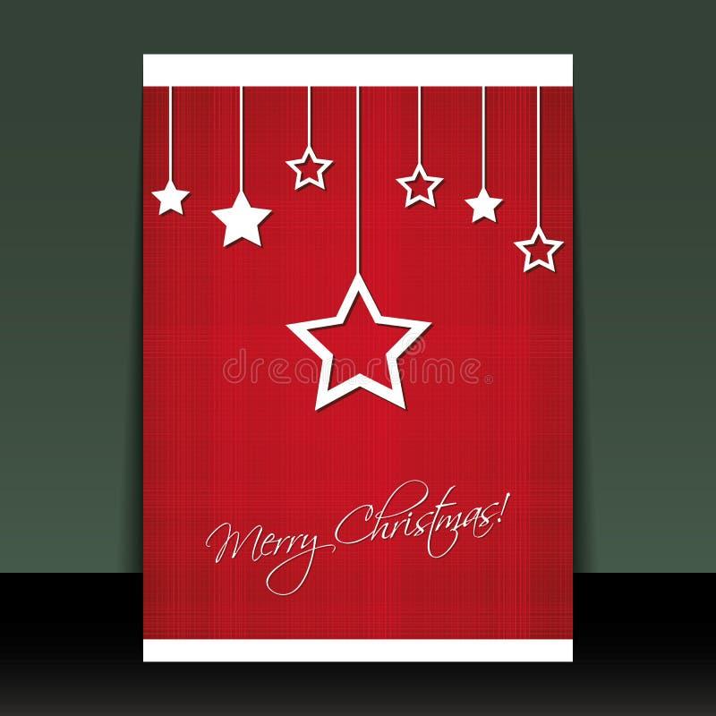 Weihnachtsflugblatt-oder -abdeckung-Auslegung lizenzfreie abbildung
