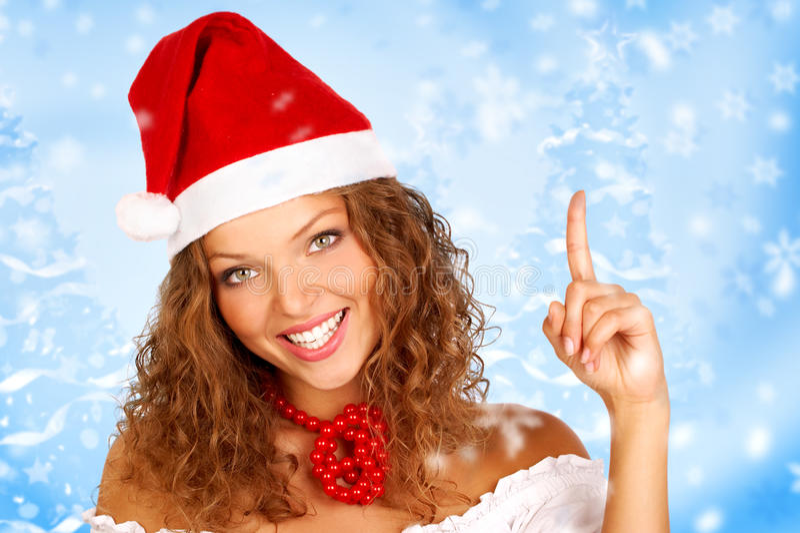 Weihnachtsfrau stockfotos
