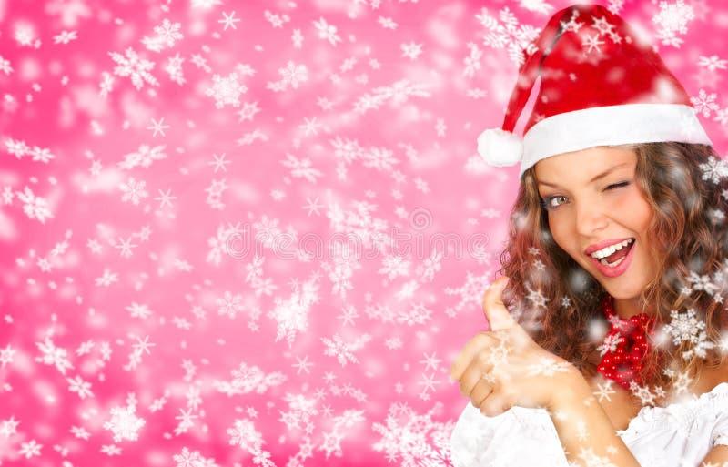 Weihnachtsfrau stockfoto