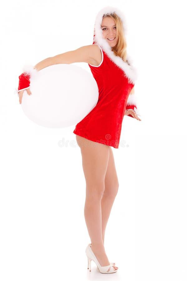 Weihnachtsfrauen-Vertretungsanzeige lizenzfreie stockfotografie