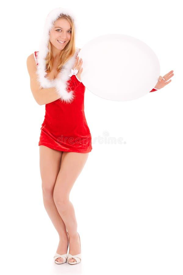 Weihnachtsfrauen-Vertretungsanzeige lizenzfreie stockfotos