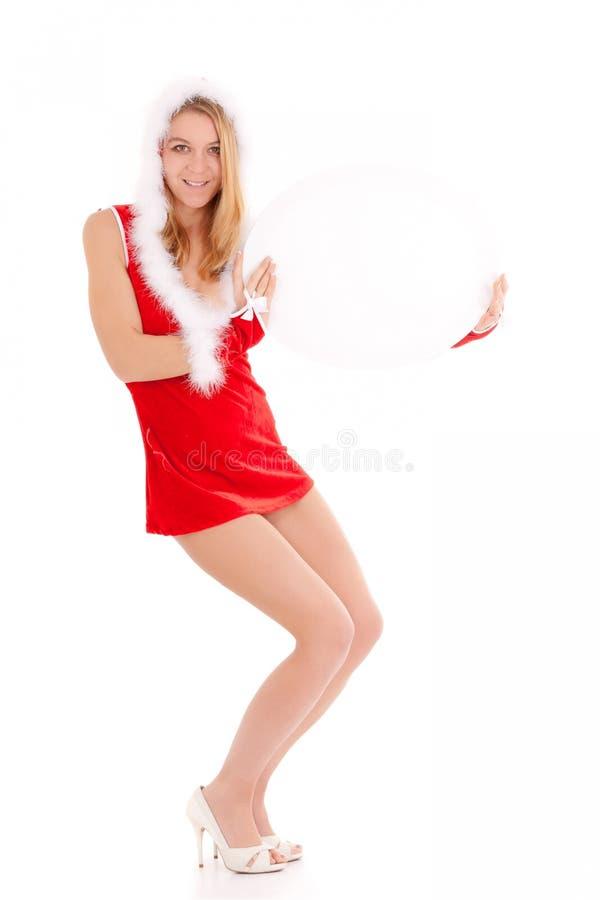 Weihnachtsfrauen-Vertretungsanzeige lizenzfreies stockfoto