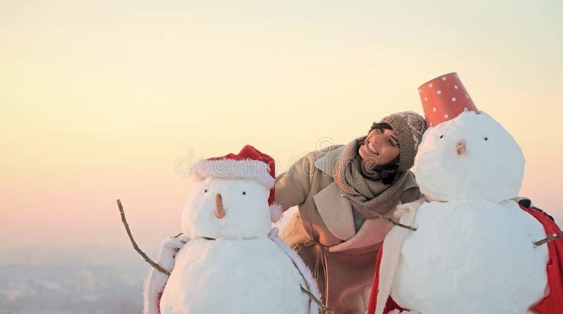 Weihnachtsfreizeit und -Winterbetrieb stockfoto