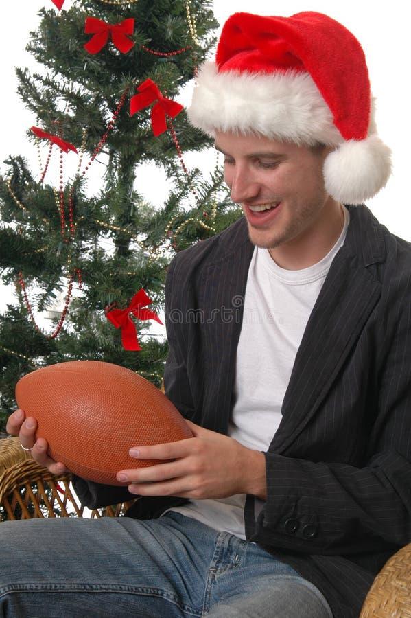 Weihnachtsfußball stockbild