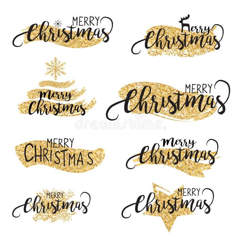 Weihnachtsfunkelnde Bürsten und Texthintergrund im Vektor lizenzfreie abbildung