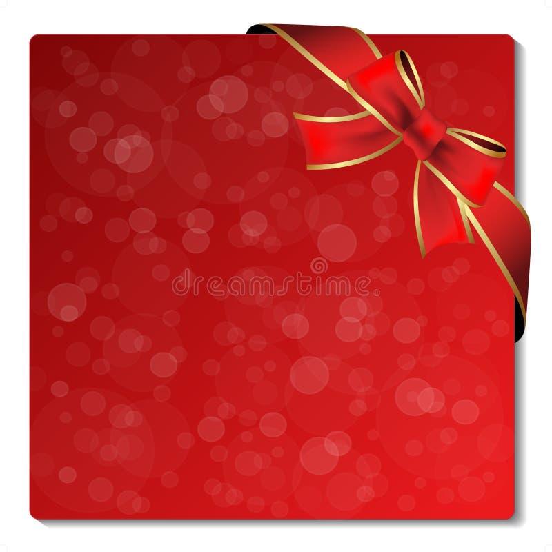Weihnachtsfunkelnkennsatz mit Farbband stock abbildung