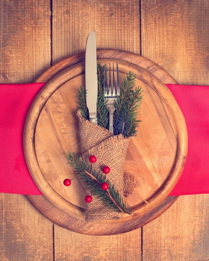 Weihnachtsgedeck stockfotografie
