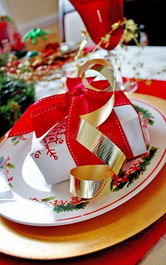 Weihnachtsgedeck lizenzfreie stockfotos