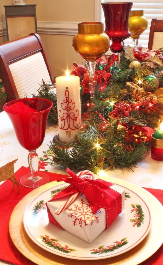 Weihnachtsgedeck stockfoto