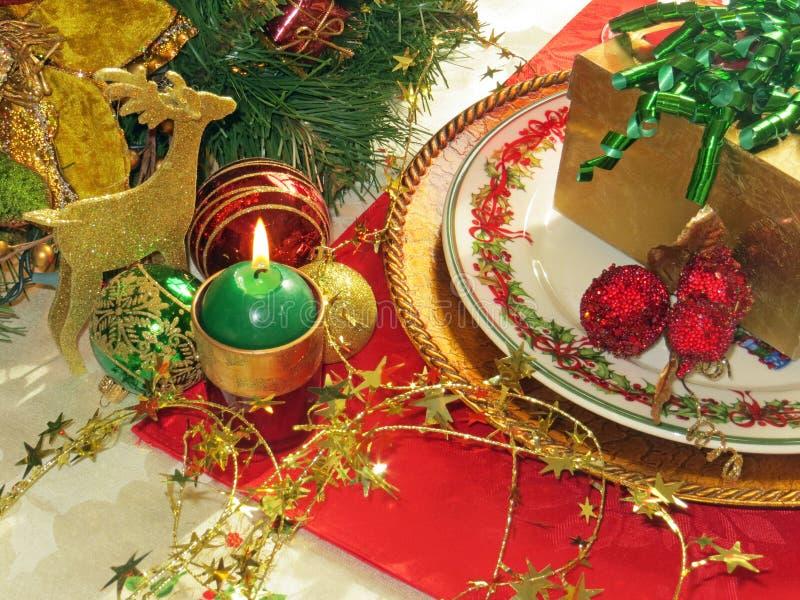 Weihnachtsgedeck stockbild