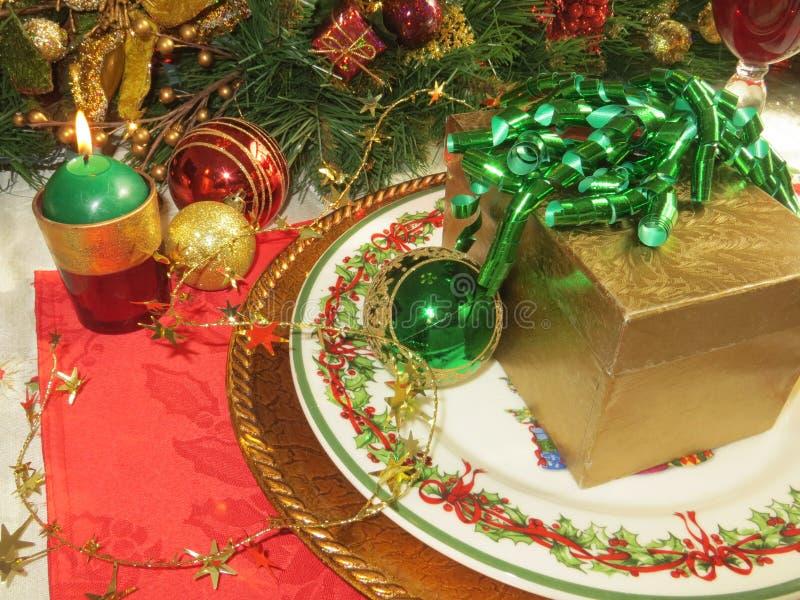 Weihnachtsgedeck stockbilder